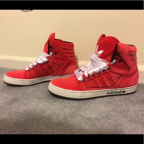 thoughts on outlet boutique new arrive ADIDAS Velvet High Top Sneakers